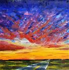 Kansas Sunset Road By Rachel Lord