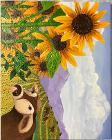 Sunflowers and cows by Anna Welsh