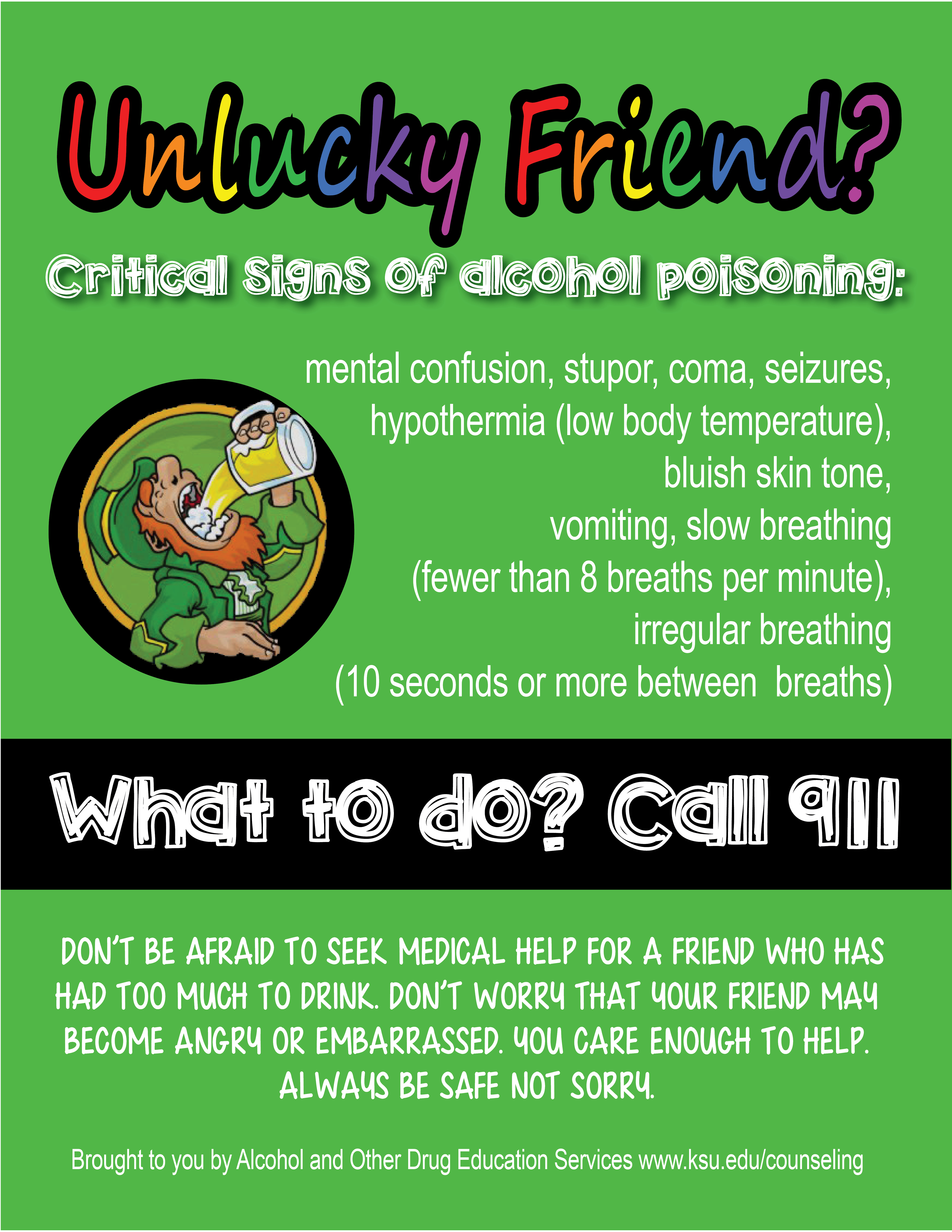 Critical Signs of Alcohol Poisoning